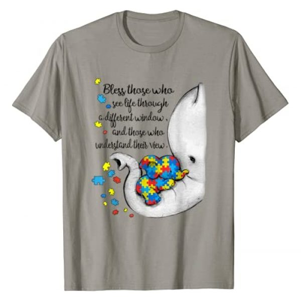 Funny elephant autism awareness tee shirt Graphic Tshirt 1 Bless those who see life through a different window elephant T-Shirt