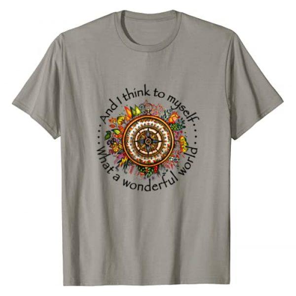 Flower Children Tees Make Hippie Great Again Graphic Tshirt 1 And I Think To Myself What A Wonderful World Hippie T-Shirt