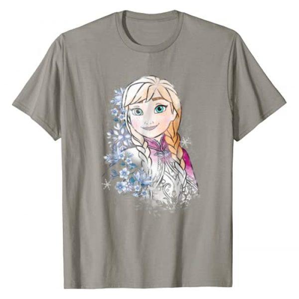 Disney Graphic Tshirt 1 Frozen Anna Illustrated Snowflake Flowers T-Shirt