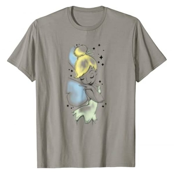 Disney Graphic Tshirt 1 Peter Pan Tinkerbell Airbrush Style Sketch T-Shirt