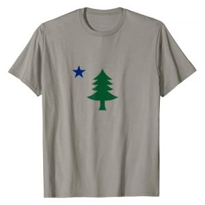 Anchor and Hook Graphic Tshirt 1 1901 First Flag of Maine Pine Tree and Star T-Shirt