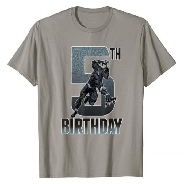 Marvel Graphic Tshirt 1 Black Panther Action Pose 5th Birthday Graphic Tee
