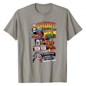 Marvel Graphic Tshirt 1 Avengers Father's Day Retro Comic Graphic T-Shirt