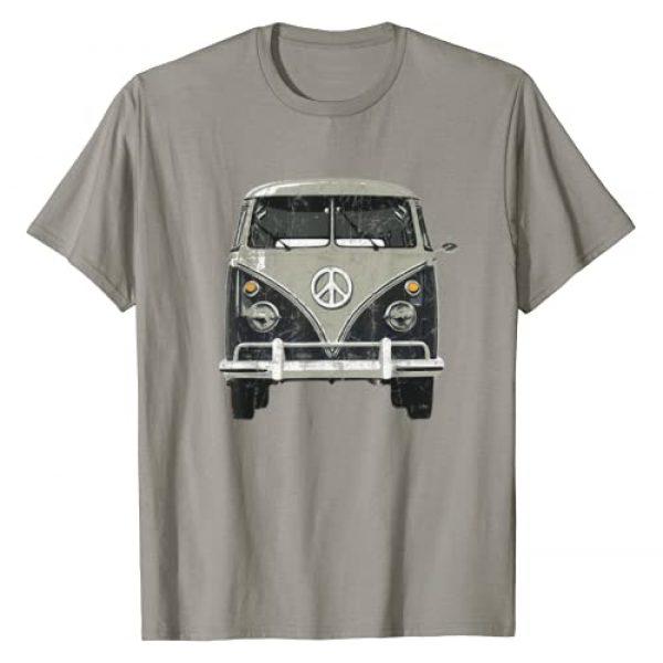 Checkertone Van Tees Graphic Tshirt 1 Vintage 1960s Hippie Micro Bus Van T-Shirt