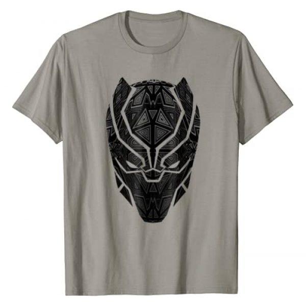 Marvel Graphic Tshirt 1 Black Panther Geometric Prism Mask T-Shirt