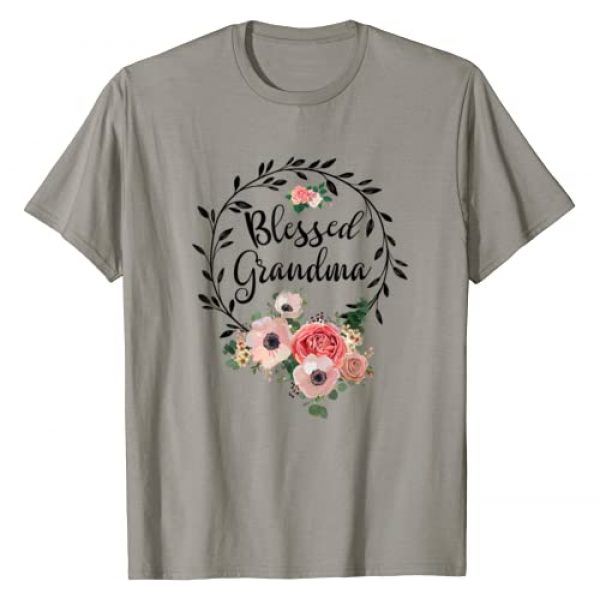 Family Things Apparel Graphic Tshirt 1 Blessed Grandma T-Shirt with floral, heart Mother's Day Gift T-Shirt