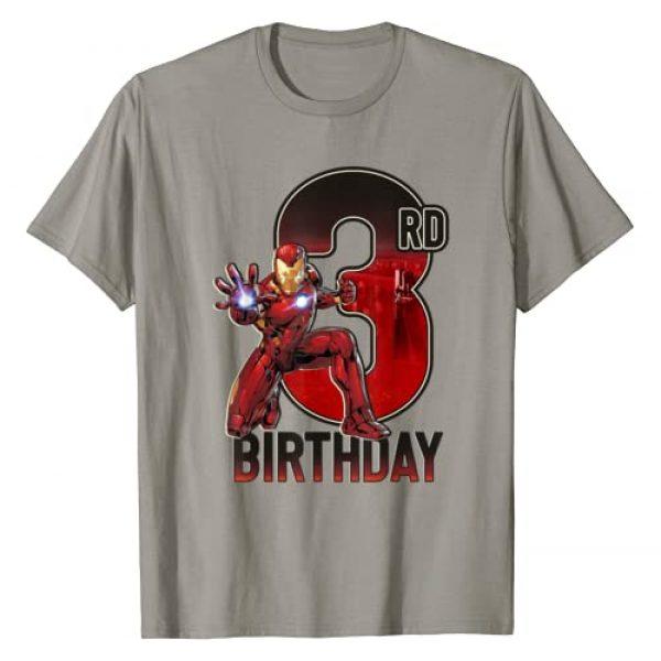 Marvel Graphic Tshirt 1 Iron Man 3rd Birthday Action Pose Graphic T-Shirt