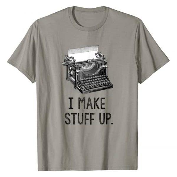 Writer Gift Tees Graphic Tshirt 1 I Make Stuff Up T-Shirt vintage typewriter writer author tee