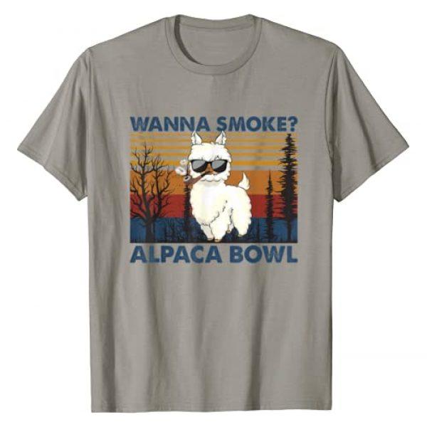 Cute Gangster Alpaca Graphic Tshirt 1 Wanna Smoke Alpaca Bowl, Cute Gangster Alpaca T-Shirt
