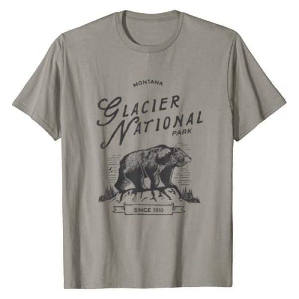 Glacier National Park Ranger Graphic Tshirt 1 Vintage Glacier National Park T Shirt Retro Bear Montana Tee T-Shirt
