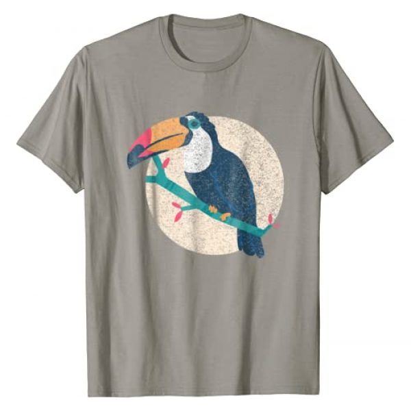 Cool Vintage Distressed Animal T-Shirts Co. Graphic Tshirt 1 Toucan Shirt - Vintage Distressed Style Toucan T-Shirt