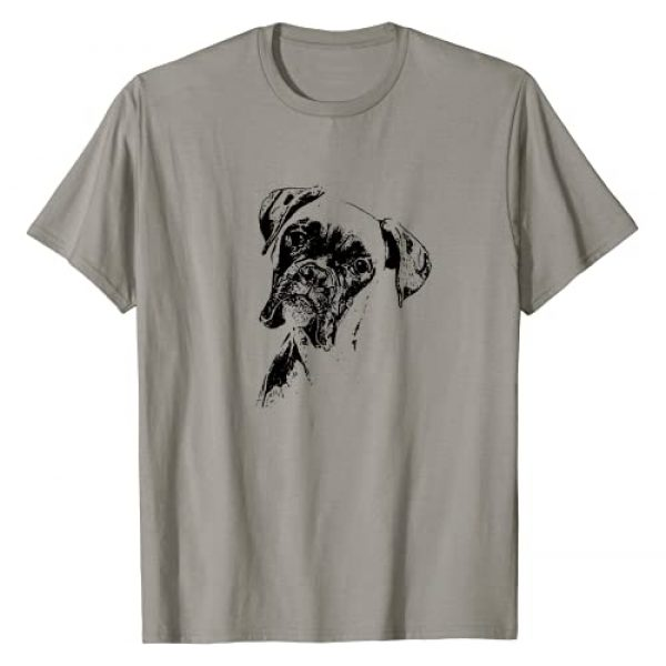 BOXER DOG WIGGLE BUTT TEES Graphic Tshirt 1 BOXER DOG FACE T-SHIRT - DOG LOVERS BOXER DOG GIFT SHIRT