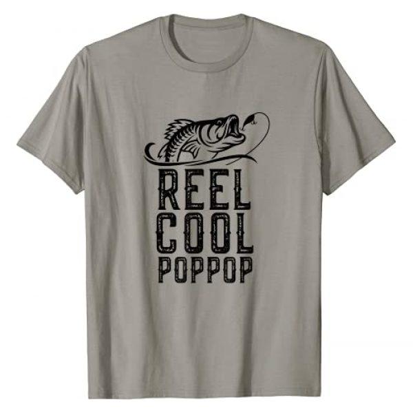 Reel Cool Pop-Pop Fishing Tees Graphic Tshirt 1 Reel Cool Pop-Pop Fishing Funny Grandpa PopPop Gift T-Shirt