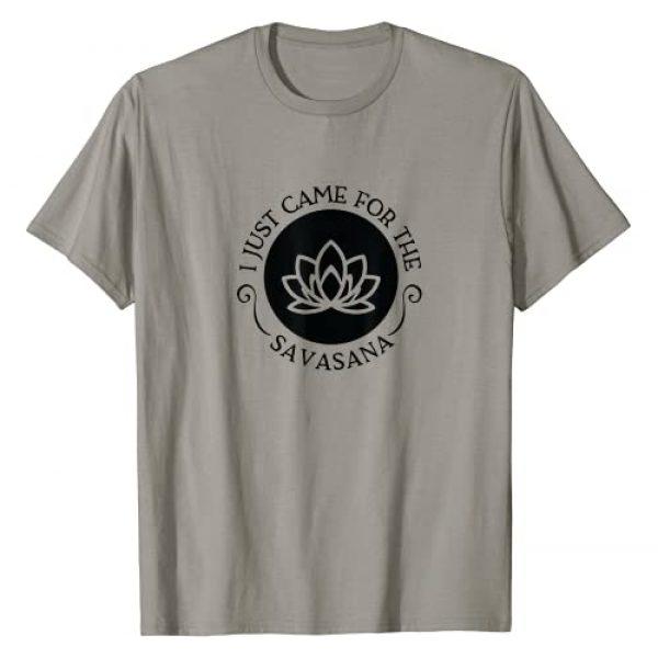 USA Hippie Savasana Yoga Meditation Graphic Tshirt 1 I Just Came For the Savasana Shavasana Corpse Yoga Pose T-Shirt