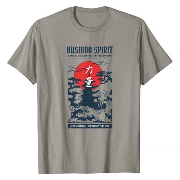Kawaii Japan Anime Shirts MV&SG Graphic Tshirt 1 Vintage Bushido Spirit Japanese Art Gift for Men T-Shirt