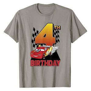 Disney Graphic Tshirt 1 Pixar Cars Lightning McQueen 4th Birthday Peel Out T-Shirt