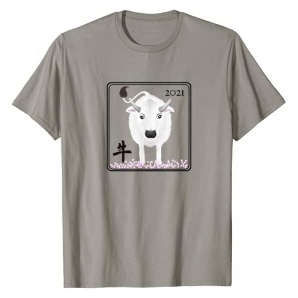 Doggazo Graphic Tshirt 1 Chinese New Year of the Ox 2021-2022 The White Metal OX T-Shirt