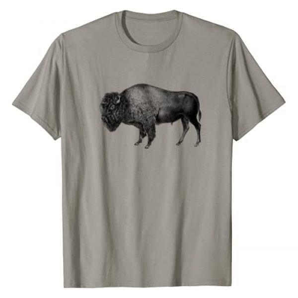 Vintage Buffalo Designs Graphic Tshirt 1 Buffalo Vintage Retro American Bison T-Shirt