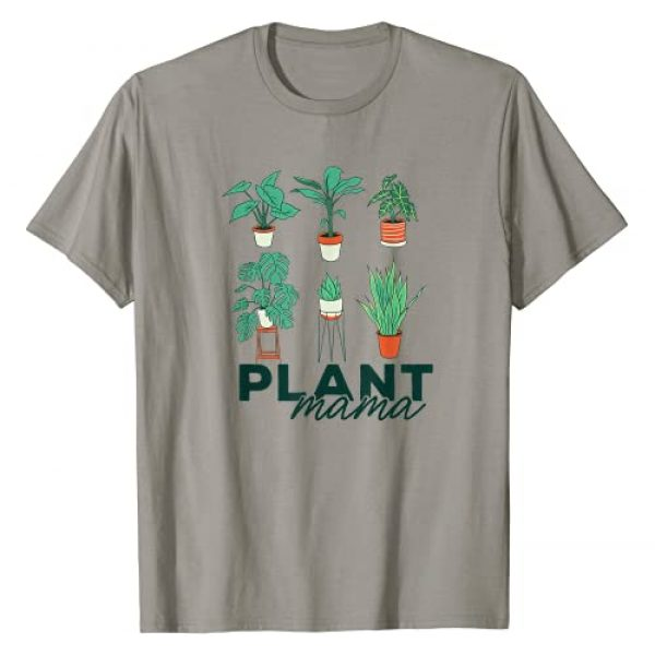 PLANTS ARE FRIENDS Grow Gardening Meme Gift Graphic Tshirt 1 PLANT MAMA Illustrated Potted House Plants Gardening Meme T-Shirt