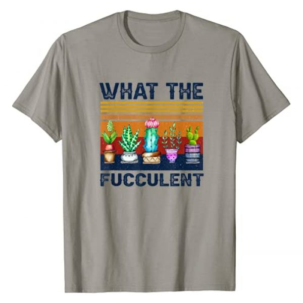Funny Gardening Gift Co. Graphic Tshirt 1 What the Fucculent Cactus Succulents Gardening Vintage Retro T-Shirt