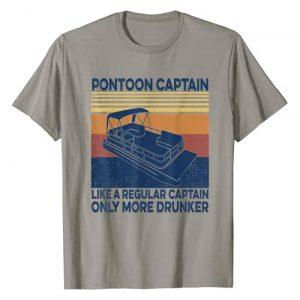 Pontoon captain like a regular captain Funny Gift Graphic Tshirt 1 Pontoon captain like a regular captain only more drunker T-Shirt