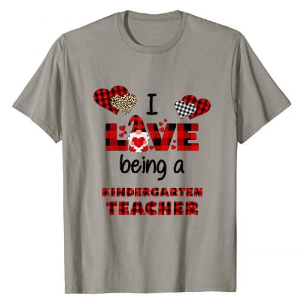 I Love Being A Kindergarten Teacher Valentine Day Graphic Tshirt 1 I Love Being A Kindergarten Teacher Flannel Valentine's Day T-Shirt