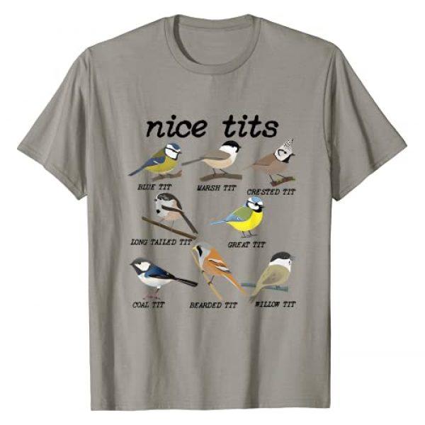 Nice Tits Funny Bird Watching Graphic Tshirt 1 Funny Tit Birds Birdwatcher T-Shirt