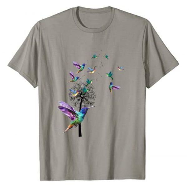 Dandelion Hummingbird By Merch Graphic Tshirt 1 Dandelion Hummingbird Flowers - Hummingbird Lover Gifts T-Shirt