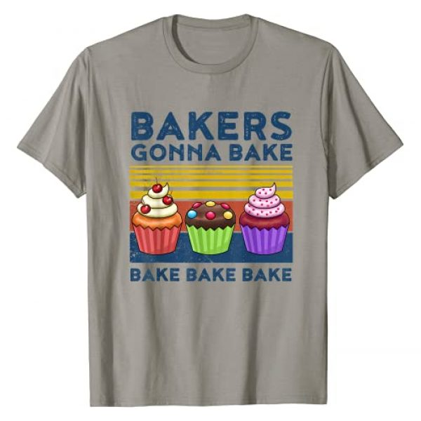Baker Tshirt Bakers Gonna Bake Gift For Bakers Graphic Tshirt 1 Cupcake T-Shirt