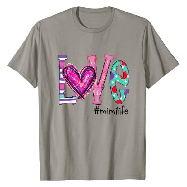 Love Grandma Life Heart Valentine's Day Graphic Tshirt 1 Womens Love Mimi Life Of Hearts Valentine's Day T-Shirt