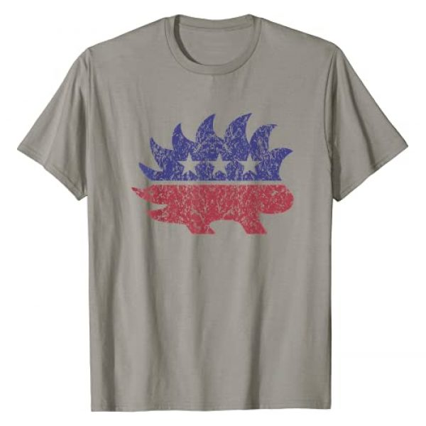 Libertarian Freedom Loving Gear Graphic Tshirt 1 Distressed Libertarian Porcupine Cool Stylized Freedom Gift T-Shirt
