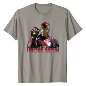 Marvel Graphic Tshirt 1 Avengers Endgame I Am Iron Man Movie Quote Portrait T-Shirt