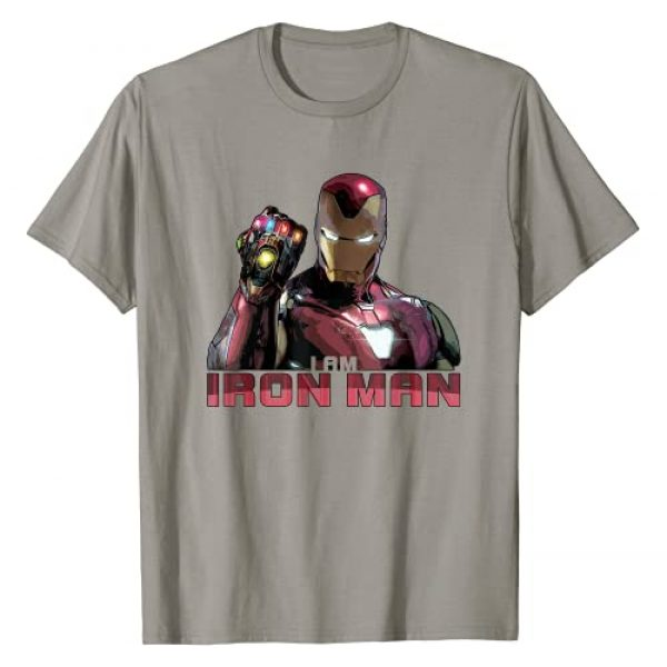 Marvel Graphic Tshirt 1 Avengers Endgame I Am Iron Man Movie Quote Portrait T-Shirt