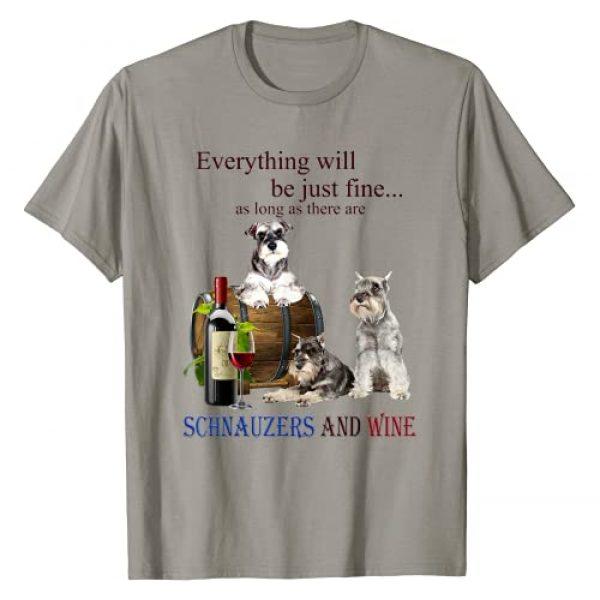 Miniature Schnauzer just fine with wine Graphic Tshirt 1 Miniature Schnauzer just fine with wine T-Shirt