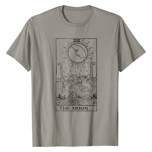 Tarot Card The Moon Graphic Tshirt 1 The Moon Tarot Card Vintage T-Shirt