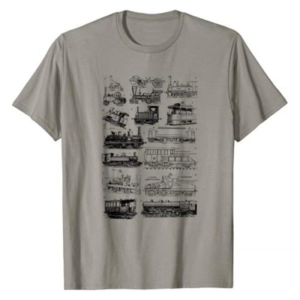 Steam Engine train locomotive Graphic Tshirt 1 Steam Engine Train Steam Train Locomotive vintage chart T-Shirt