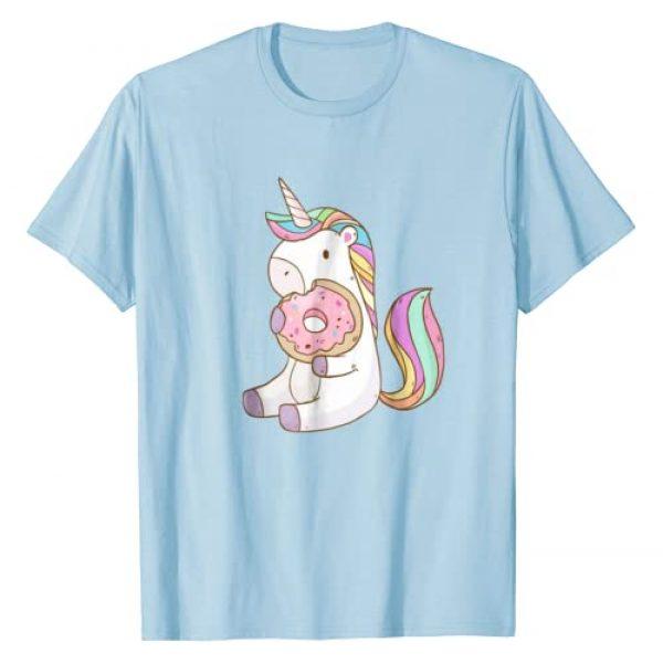 Unicorn Magic Tee Graphic Tshirt 1 Cute Hungry Unicorn Munching on Yummy Donut T-Shirt