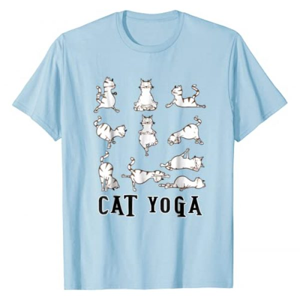 Unknown Graphic Tshirt 1 Fun Cat Yoga Gift T Shirt, Cute Family Gift, Lt