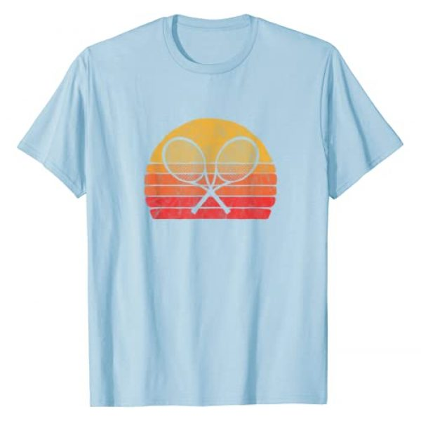 Nature Rush Outdoor Sports Threads Graphic Tshirt 1 Crossed Tennis Racquets Retro 80s Sun Vintage Graphic T-Shirt