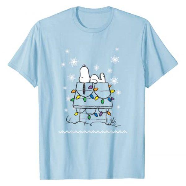 Peanuts Graphic Tshirt 1 Snoopy Dog House Lights T-shirt