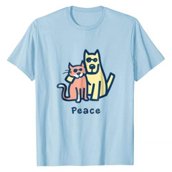 VISHTEA Graphic Tshirt 1 Cat Mom Dog Mom Peace Together I Love Pets Tshirt