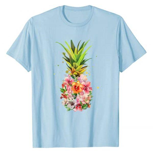 Lique Aloha Beach Graphic Tshirt 1 Pineapple Flowers Shirt Women Aloha Hawaii Vintage Hawaiian