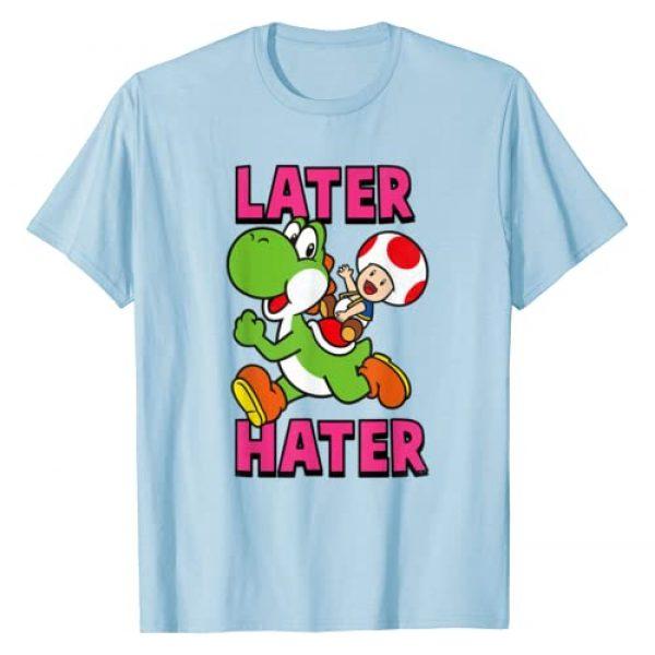 SUPER MARIO Graphic Tshirt 1 Nintendo Super Mario Yoshi Toad Later Hater T-Shirt