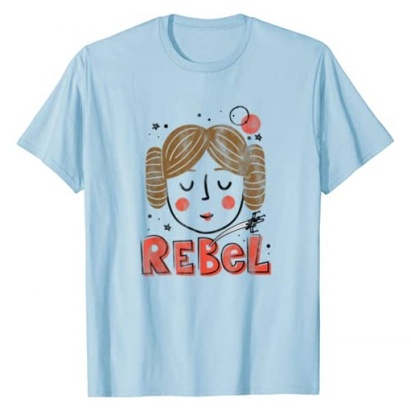 Star Wars Graphic Tshirt 1 Princess Leia Rebel Doodle Drawing T-Shirt