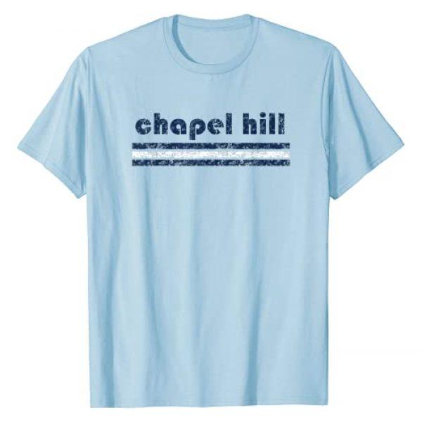 Chapel Hill Retro Tees Graphic Tshirt 1 Chapel Hill North Carolina Vintage Retro Stripe Throwback T-Shirt