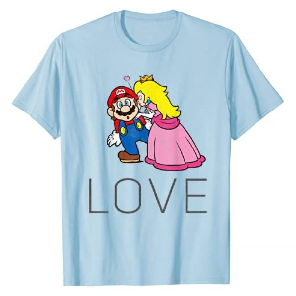 SUPER MARIO Graphic Tshirt 1 Princess Peach Kiss Love Graphic T-Shirt T-Shirt