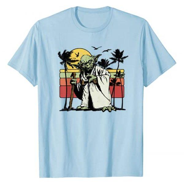 Star Wars Graphic Tshirt 1 Yoda Retro Striped Vintage Sunset Beach T-Shirt T-Shirt
