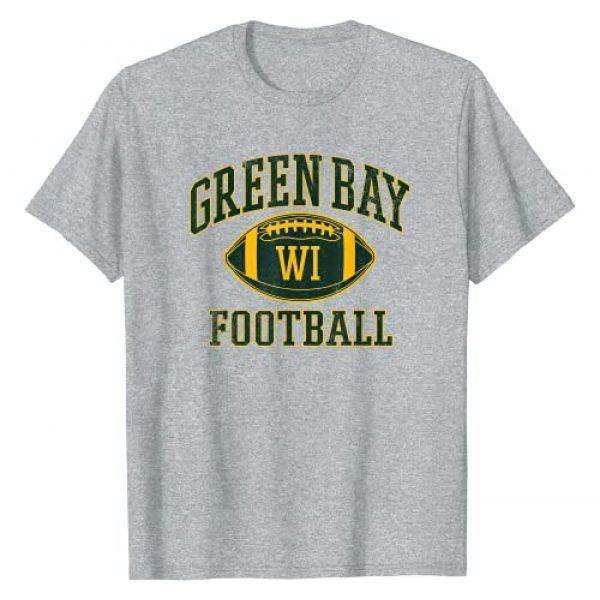 VintageGreenBayApparelCo. Graphic Tshirt 1 Vintage Green Bay-Football Wisconsin Retro Distressed Gift T-Shirt